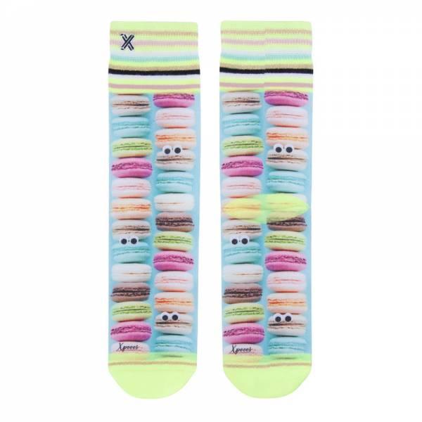 XPOOOS Socks Macarons | Lustige Socken