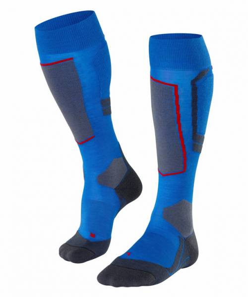 Falke SK4 Wool Herren Skiing Kniestrümpfe Cobalt Blue