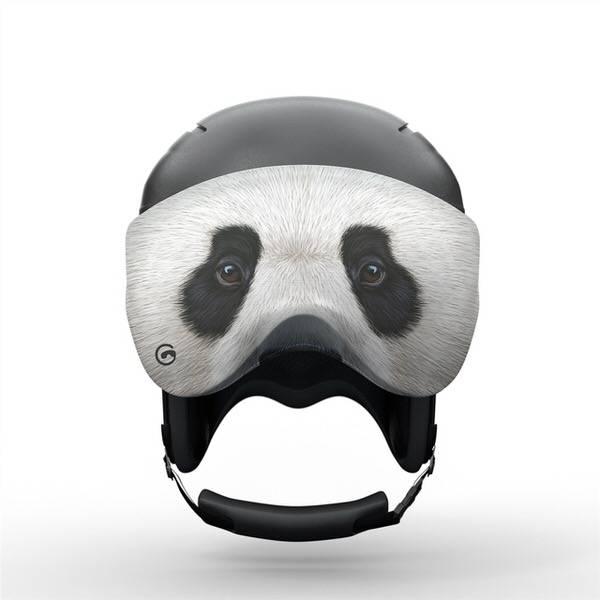 Gogglesoc Panda Visorsoc | Skibrillen Schutz und Putztuch mit Style