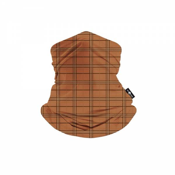 SCARF MASK-Brown Square