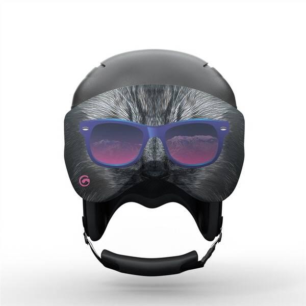 Gogglesoc Bad Kitty Visorsocc | Skibrillen Schutz und Putztuch mit Style