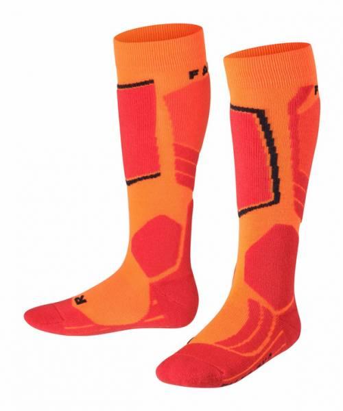 Falke SK2 Kinder Skiing Kniestrümpfe Flash Orange