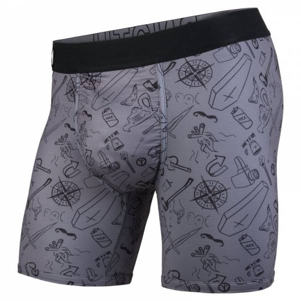 BN3TH ENTOURAGE BOXER BRIEF MORAL COMPASS/CHARCOAL