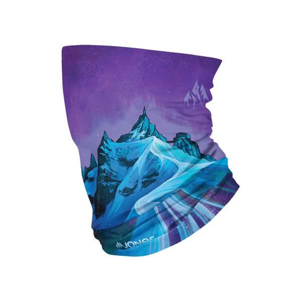 Jones Aiguille Blue Artwork Neck Warmer   Halsschutz bei Kälte, hält dich warm