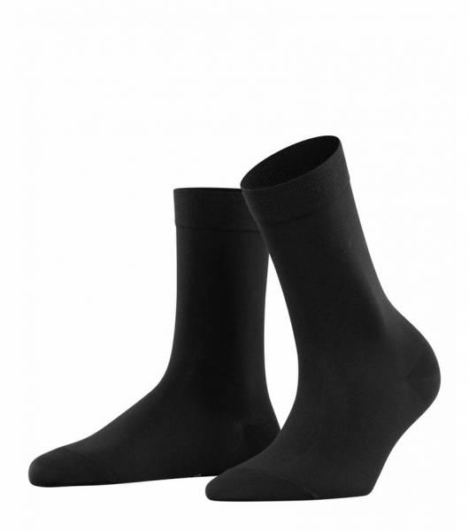 Falke Cotton Touch Damen Socken Black