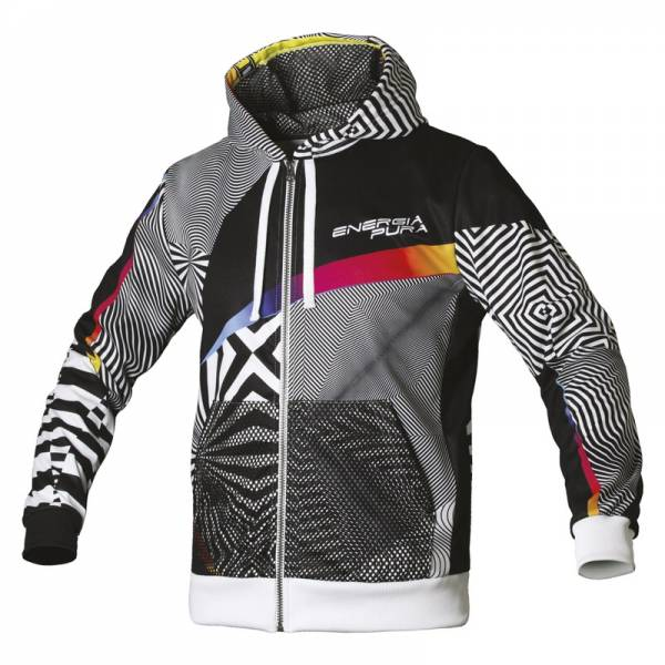 Energiapura Optical Zip Kapuzen Pullover