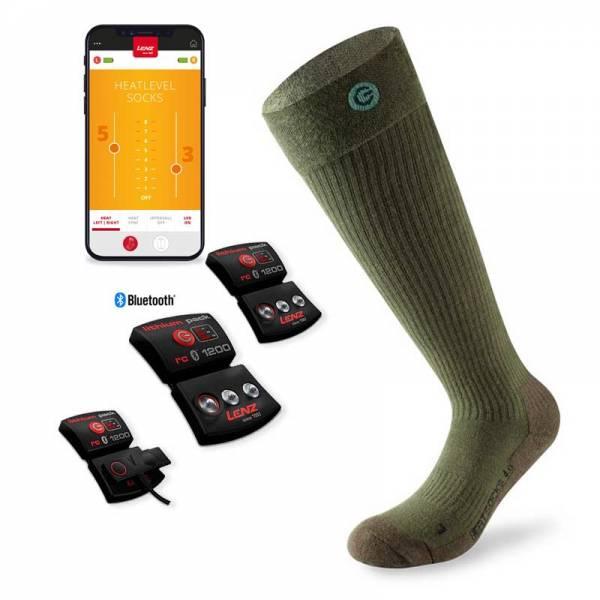 Lenz Heat Sock 4.0 Toe Cap Set Grün