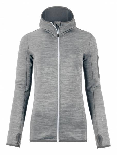 Fleece Melange Hoody W Grey Blend