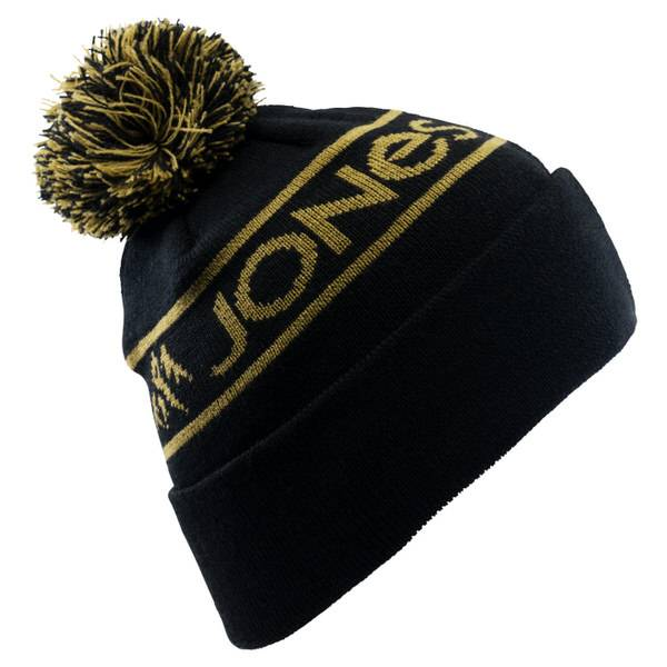 Jones Chamonix Black Beanie   Warme Snowboard-Mütze
