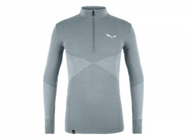 Salewa Zebru Men Medium Responsive Tight Flint Stone 1/2 Zip | Onlineshop ski-shop.ch