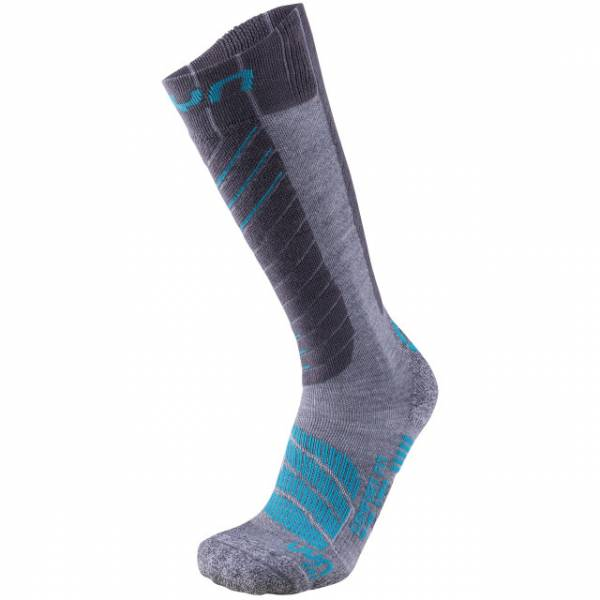 UYN Lady Ski Comfort Fit Socks Grey/Turquoise   sockenstore.ch   ski-shop.ch